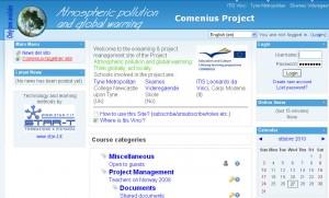 Sito e-learning del progetto Comenius